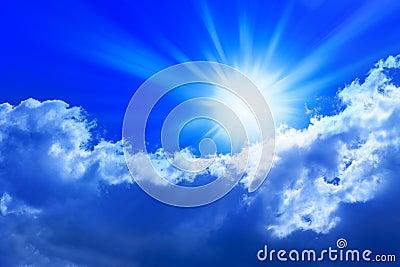 Clouds Sky Sun Rays