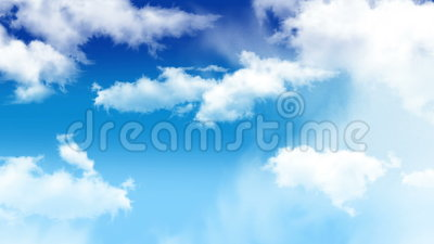 Clouds 003. Slow clouds move blue sky stock footage