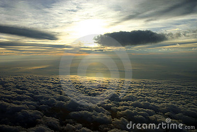 Clouds and Sun Aerial
