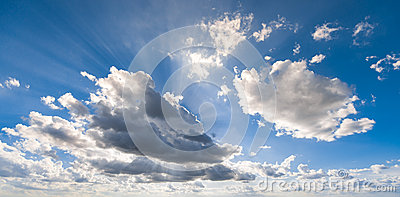 Clouds sun ray