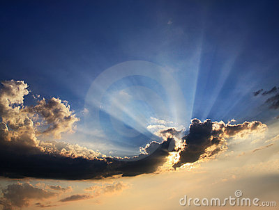 Clouds And Sunburst