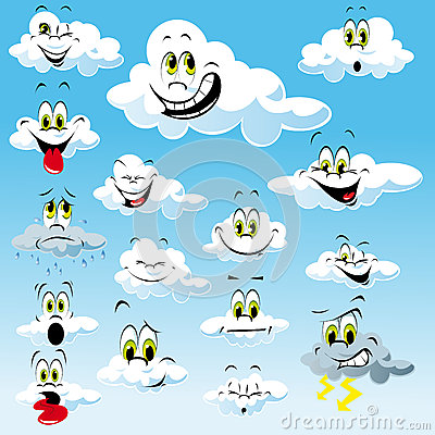 Free Clouds With Cartoon Faces Stock Photos - 26653273