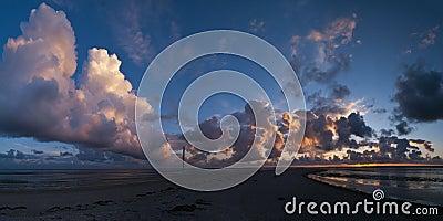 Cloudscape above the coast