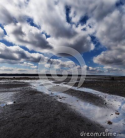 Cloudscape antes de la lluvia