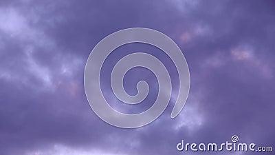 Cloudscape dramático video estoque