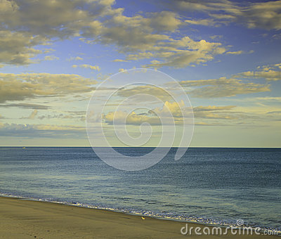 Cloudscape over beach