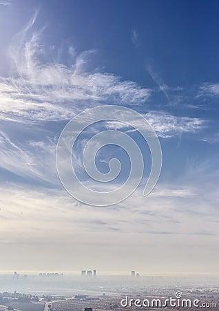 Cloudscape over Dubai city