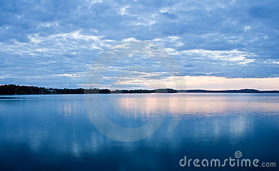 Cloudscape over lake