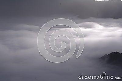 Cloudscape Over Mountain Range Free Public Domain Cc0 Image
