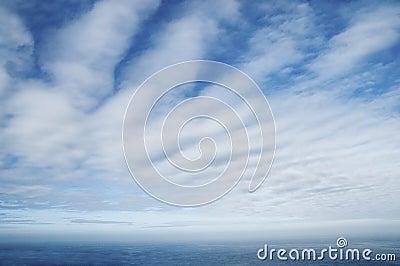 Cloudscape Over Sea