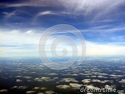 Cloudscape sceniczny lotniczego