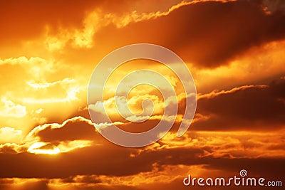 Cloudscape wschód słońca