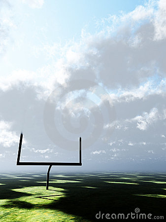 Cloudy American Football Field