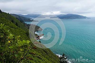 Cloudy Bay of Marlborough Sounds, New Zealand
