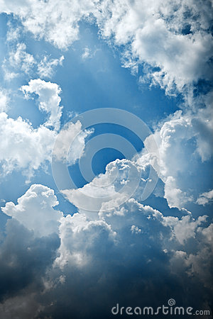 Cloudy and blue sky pattern