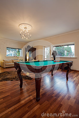 Cloudy home - billiard table