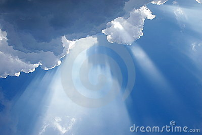 Cloudy inspirational heavenly light