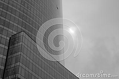 Cloudy modern building