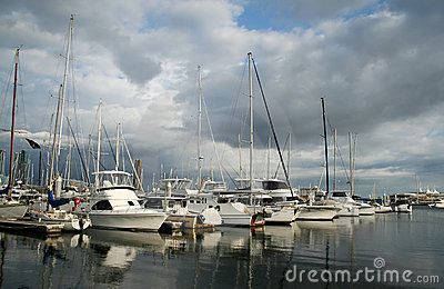 Cloudy Morning Marina Stock Images - Image: 6496994