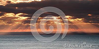 Cloudy sea sunrise