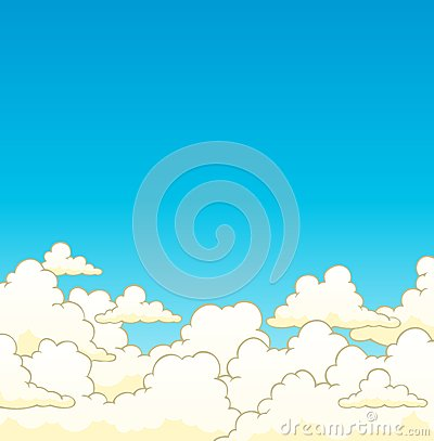 Cloudy sky background 6