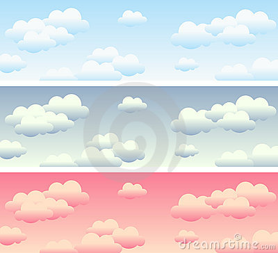Free Cloudy Sky Banners Royalty Free Stock Image - 14249116
