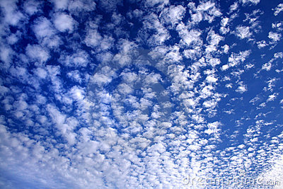 Cloudy sky in white and blue 02
