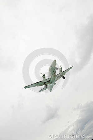 Cloudy Slanted Airplane