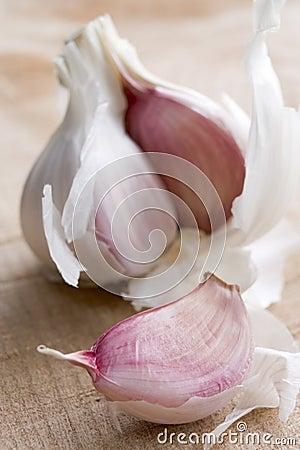 Clove And Bulb Of Garlic