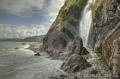 Clovelly waterfall Devon GB