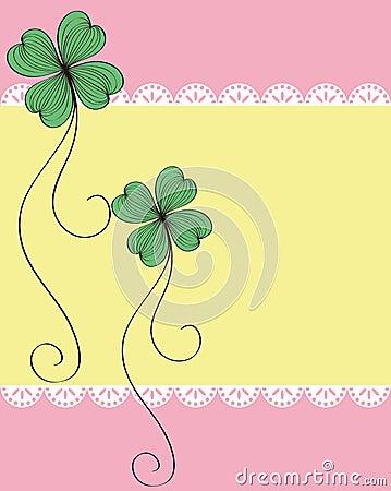 Clover card pattern design