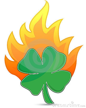 Clover On Fire Lucky Concept Illustration Stock Photography - Image: 23694822