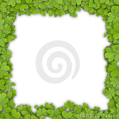Free Clover Frame Stock Photography - 21482842