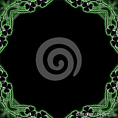 Free Clover Frame Stock Image - 8087541