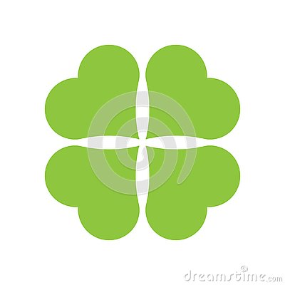 Four leaf clover icon. Green icon isolated on white background. Simple icon. Web site page and mobile app design Stock Photo