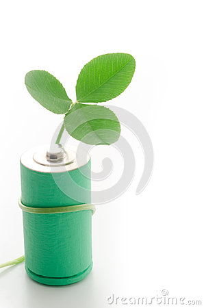 Clover leaf coiled with battery