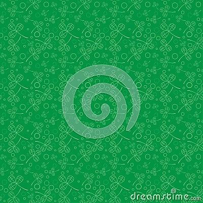 Clover leaves background. St. Patricks day . Seamless pattern. Vector Vector Illustration