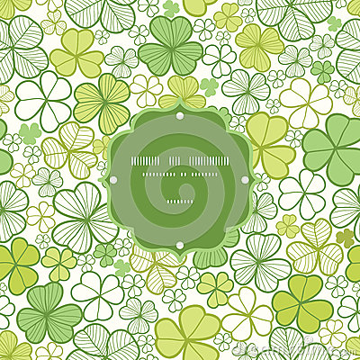 Free Clover Line Art Frame Seamless Pattern Background Royalty Free Stock Images - 30827609