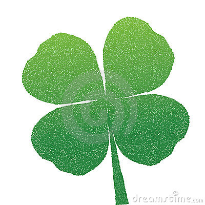 Clover made of dots