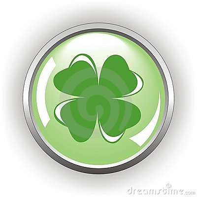 Clover or shamrock button