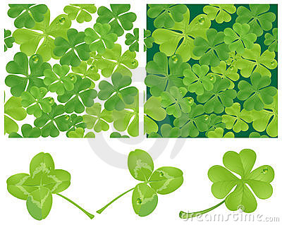 Clover. Vector seamless background.