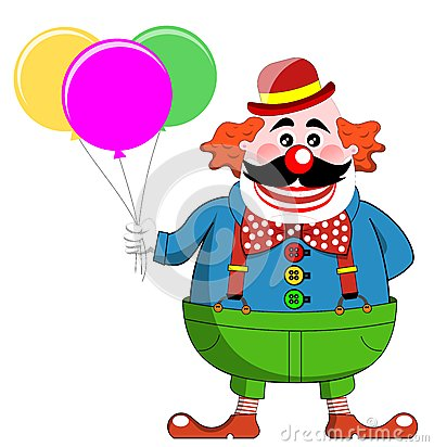 Clown Balloons Colorful Happy