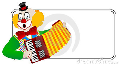 Clown the accordionist
