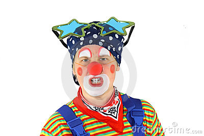 Clown is angry