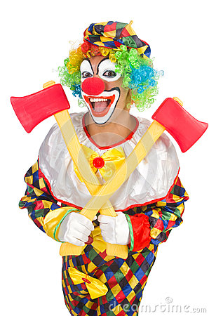 Clown with axe