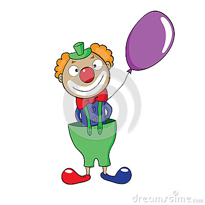 Clown with balloon