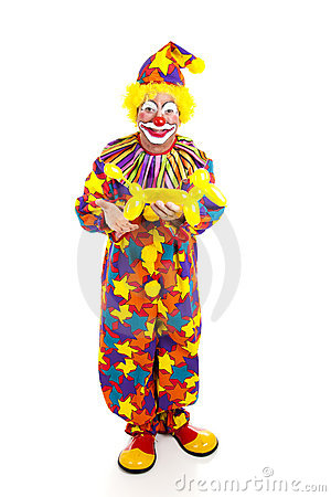 Clown With Balloon Animal FB