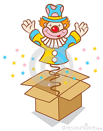 Clown From Box Royalty Free Stock Photography - Image: 33160227