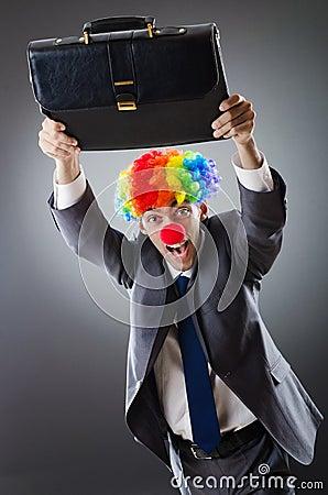 Clown businessman - funny business concept
