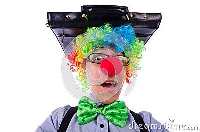 Clown businessman